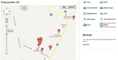 Get a free subscription to kidlogger service for the blackberry the phone movement and be able to see all the coordinates in real time through google maps and you will also have one month storage of the event log gumiabroncs Gallery