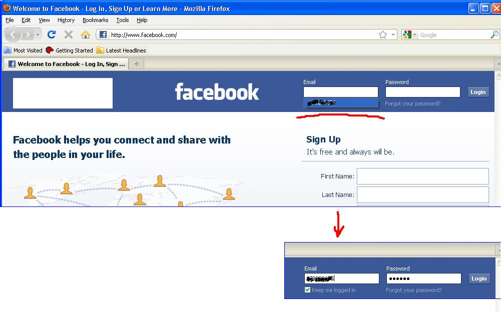 how to recover yahoo email password through facebook